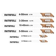 Faithfull Jigsaw Blade Set of 10 Assorted