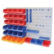 Faithfull Storage Bin Set with Wall Panels 43-Piece