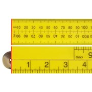 Folding Rule Yellow ABS Plastic 1 Metre / 39in