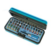 Faithfull Screwdriver Bit Set in Metal Case 37 Piece