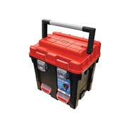 Faithfull Plastic Cube Toolbox - 2 Trays 17in Deep