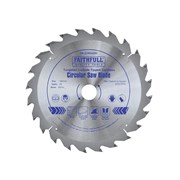 Faithfull Trim Saw Blade 165mm x 24T x 20mm