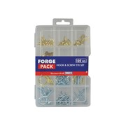 Forgefix Hook & Screw Eye Kit Forge Pack 102 Pieces