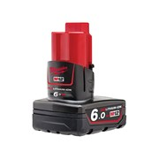 "Milwaukee M12 B6 REDLITHIUM-IONâ""¢ Battery Pack 12 Volt 6.0Ah Li-Ion"