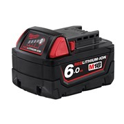 "Milwaukee M18 B6 REDLITHIUM-IONâ""¢ Slide Battery Pack 18 Volt 6.0Ah Li-Ion"