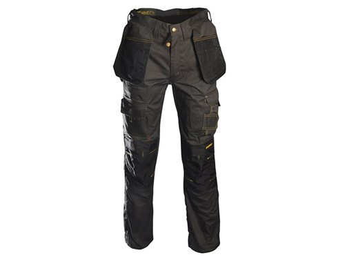 Roughneck Clothing Black & Grey Holster Work Trousers
