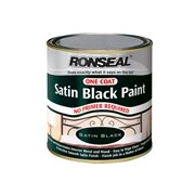 One Coat Paint Satin Black 250ml