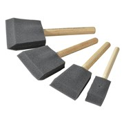 Rustins Foam Brush Set (1,2,3 & 4in)