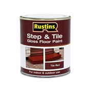 Rustins Step & Tile Paint Gloss Red 2.5 Litre
