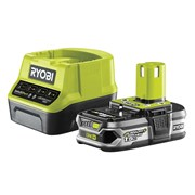 Ryobi RC18120-115 ONE+ Compact Charger 18V & 1 x 18V 1.5Ah Li-ion Battery