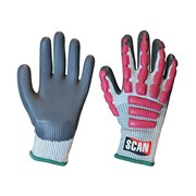 Scan Anti-Impact Latex Cut 5 Gloves