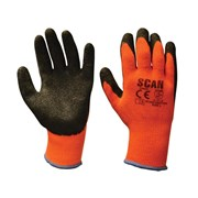 Knitshell Thermal Gloves Orange/Black Large