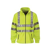 Hi-Visibility Yellow Full Zip Fleeces