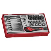 Teng TTMDQ49 Bit & Quick Chuck Handle Set, 49 Piece