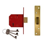 2134E 5 Lever Mortice Deadlocks BS