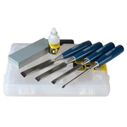 Stanley 5002 Bevel Edged Wood Chisel Set 4 Piece