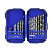 XMS Faithfull HSS Drill Set, 19 Piece