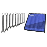 XMS Faithfull Combination Spanner Set with Roll, 9 Piece