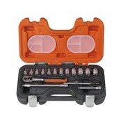 XMS Bahco S160 1/4in Socket Set, 16 Piece