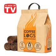 Eco Coffee Fire Logs Made from 100% used coffee grounds