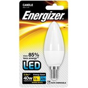 Energizer Lighting Energizer E14 Warm White Blister Pack Candle 5.9w - 40w