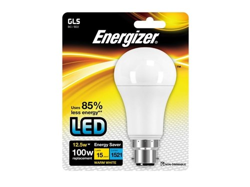 Energizer Lighting LED GLS 1521lm B22 Warm White BC 12.5w