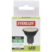Eveready Electrical LED Gu10 Bulb Warm White 2.5w - 35w