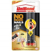 No More Nails Click & Fix, Easy-to-Use Instant Grab Adhesive, Ready to Use Mounting adhesive, Pre-Dosed Strong Glue for Light DIY