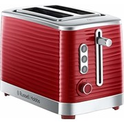RUSSELL HOBBS 2 SLICE TOASTER RED