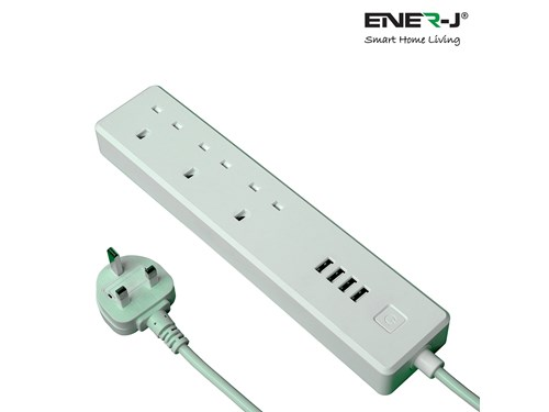 Ener-J Smart Living WiFi Smart Power Strip Extension Box With USB