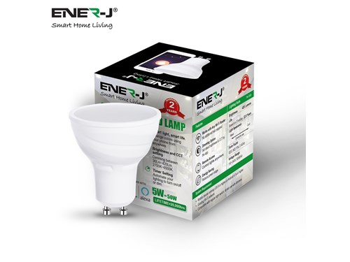 Ener-J Smart Living Smart WiFi GU10 CCT Changing Lamp (6000K-2700K)