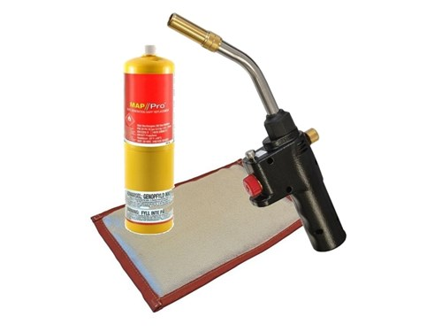 Auto Start Torch with Free Map Gas and Soldering Pad