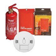 Smoke & Carbon Monoxide Alarm Plus Fire Blanket and 1kg Extinguisher